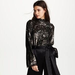 NWT KENDALL + KYLIE | Sequin Mock Neck Top